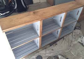 wood crate furniture. wood crate rolling cart painting furniture repurposing upcycling e