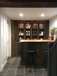 stone house furniture. basement bar made from reclaimed wood live edge top stone house revival furniture