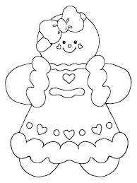 Gingerbread Man Outline Printable Gingerbread Man Coloring Pages