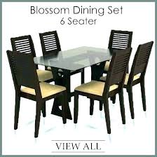 dining table sets with 6 chairs set for room dinning retro glass top pu leather
