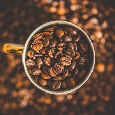 coffee beans.  Beans Organic Fairtrade Coffee Beans Inside