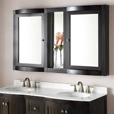 modern medicine cabinets surface mount. Brilliant Cabinets Black Wooden Medicine Cabinet With Double Mirror Doors On White Wall Theme Modern Cabinets Surface Mount S