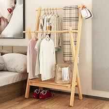Wooden Coat Rack With Storage Unique Amazon Waterproof Wood Coat Racksgarment Rack Multipurpose