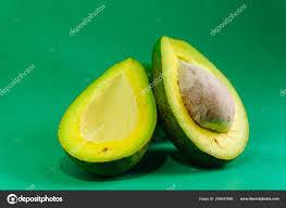 Avocado Light Avocado Light Green Background Eat Stock Photo