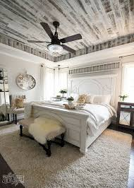 Master Bedroom, Farmhouse, Modern Countrt, King Size Bed, Shiplap, Bench, Ceiling  Fan, Master Bedroom, Rug, Side Tables, Tray, Mirror, Home Decor, ...