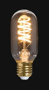 Spiral Led Light Led Vintage Style Light Bulb St14 Medium Size E26 W Spiral Filament