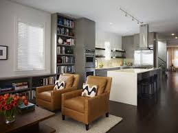 Kitchen Great Room Designs Dining Room Living Room Combo Design Ideas White Lacquered Pine