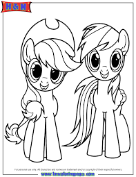 Small Picture Applejack And Rainbow Dash Coloring Page H M Coloring Pages