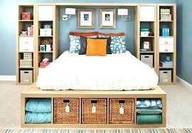 storage furniture for small bedroom. Delighful For Storage Shelves Bedroom Small Furniture Bed Surrounded By  Shelving Units   Throughout Storage Furniture For Small Bedroom A