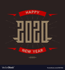 Happy New Year Shirt Design Happy New Year 2020 Poster With Stylized