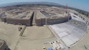 Cupertino apple office Head Office Footage From Drone Shows Construction Of New Apple Campus Abc13 Houston Drone Flight Captures Footage Of Construction Of Apples Second