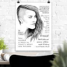 Feminist Poster Feminist Wall Art Strong Women Feminist Print Feminism Art With Empowerment Quotes