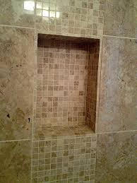 shower wall niche bathroom remodel tile mesa tan inserts canada