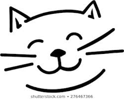 cat face clipart. Simple Cat Cartoon Cat Face On Cat Face Clipart Shutterstock