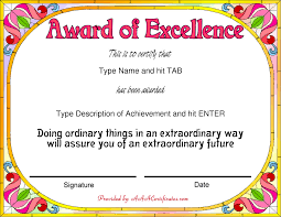 Collection Of Solutions Examples Of Award Certificates Letter