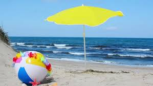 Beach ball in ocean Clipart Beach Ball And Parasol By The Sea Allposterscom Beach Ball And Parasol By Stock Footage Video 100 Royaltyfree