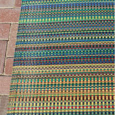 mixed rainbow outdoor mat 6ft x 9ft mad mats rugs outdoors dfohome com dfohome