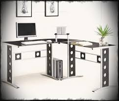fabulous home office interior. Fabulous Home Office Decoration Design With Ikea Glass Desks Interior Ideas Furniture Fetching Topputer Desk In N