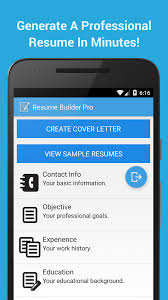 Perfect Resume Creator App For Android Also Resume Builder Pro New Resume Creator App