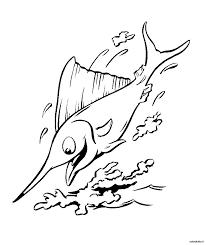 Pesce Spada 2 Disegni Per Bambini Da Colorare