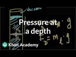 Pressure at a depth in a fluid (video) | Khan Academy