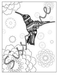 printable hummingbird coloring page hummingbird flowers zentangle inspired instant pdf coloring book flower doodle