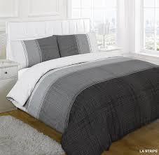 black la stripe duvet cover set