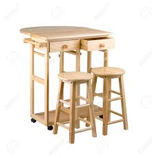 Little Kitchen Folding And Movable Wooden Table With Drawers For Little Kitchen