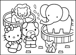 Small Picture Zoo Animal Coloring Pages For Preschool Within esonme