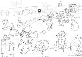 Pvz Coloring Pages Plants Vs Zombies Coloring Pages To Print For