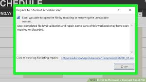 Excel Temp Service 5 Ways To Recover A Corrupt Excel File Wikihow