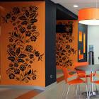Роспись хохломой на стенах