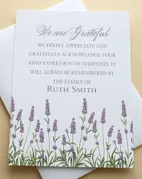 Thank You Sympathy Cards Funeral Thank You Sympathy Card With A Meadow Of Purple