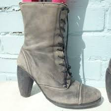 oasis grey leather boots