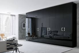 contemporary wardrobe  wooden  glossy lacquered wood  with