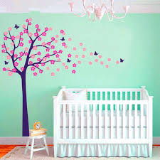 nursery wall decal cherry blossom mural erfly art name stickers