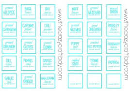 Spice Jar Labels Printable Craft Labels Printable Printable And Customizable Play Credit Cards