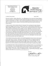 Reference Letter From Domino Effect S Veterinarian Brilliant Ideas