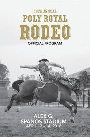 Alex G Spanos Stadium Seating Chart Poly Royal Rodeo Program 2018 By Amyburke03 Issuu