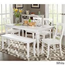 Shop Simple Living 6 Piece Albury Dining Set With Dining Bench On