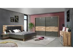 Schlafzimmer Richard 6 Stabeiche 3 Teilig Bett Schrank Kommode Led