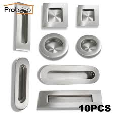 Square Kitchen Door Handles Probrico 10 Pcs Recessed Kitchen Cabinet Door Handle Stainless