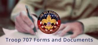 Troop 707 Forms And Documents | Boy Scout Troop 707