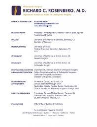 Gallery Of J Tracy Curriculum Vitae Medical School Curriculum