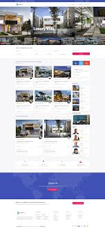 Html5 Material Design Template Lux Realty Real Estate Property Material Design