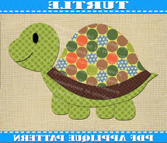 Popular Items For Pdf Baby Quilt On Etsy Turtle Applique Pattern ... & Photo 2 of 11 Popular Items For Pdf Baby Quilt On Etsy Turtle Applique  Pattern Template Download Instant Fabric Shirt Adamdwight.com