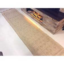 cotton trader eco friendly hand woven 100 natural jute authentic tribal ethnic design fringed long hall rugs