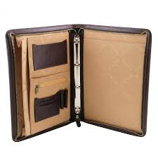 tuscany leather doent case a4 with ring binder made in italy