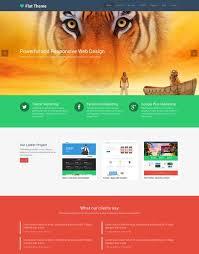 Page Design Templates 50 Best Flat Design Website Templates Free Premium
