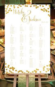 Digital Seating Chart Wedding Wedding Seating Chart Poster Confetti Hearts Gold Print Ready Digital File